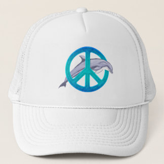 Dolphin Peace Trucker Hat
