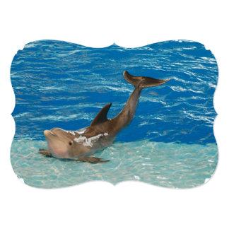 Dolphin Pose 13 Cm X 18 Cm Invitation Card