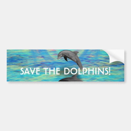 Dolphin Rising Bumper Sticker