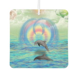 Dolphin Rising Car Air Freshener