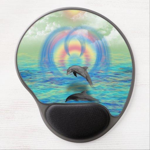 Dolphin Rising Gel Mousepad
