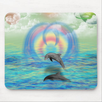 Dolphin Rising Mouse Pad