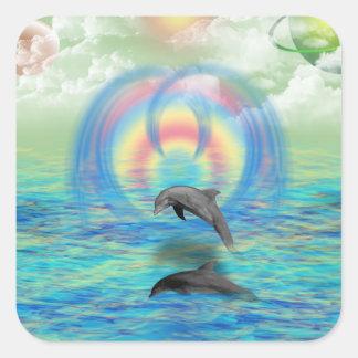 Dolphin Rising Sticker