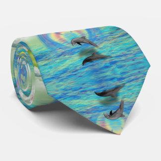 Dolphin Rising Tie