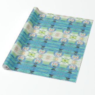 Dolphin Rising Wrapping Paper