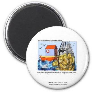 Dolphin Safe Tuba Funny Novelty Magnet