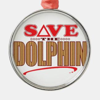Dolphin Save Christmas Ornament
