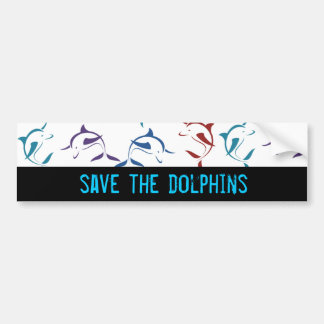 dolphin save the dolphins bumper sticker