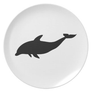 Dolphin Silhouette Plate