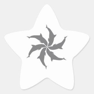 DOLPHIN SPIRAL STAR STICKERS