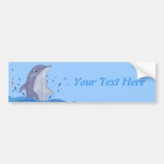 Dolphin Splash Bumper Sticker