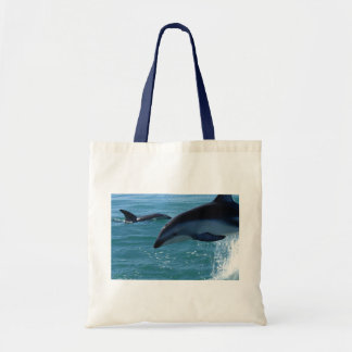 Dolphin Splash Destiny Beach Ocean Nature Tote Bag