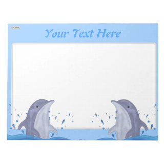 Dolphin Splash Notepad