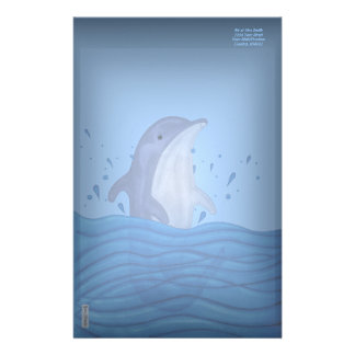 Dolphin Splash Personalized Stationery