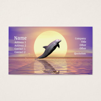 Dolphin Sun Business Card