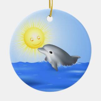 Dolphin & Sun Christmas Ornament