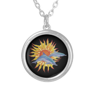 dolphin sunrise necklace
