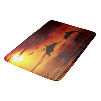 Dolphin Sunset Bath Mat. Bath Mats