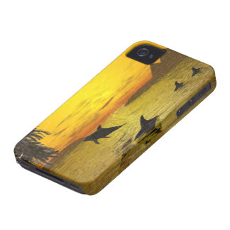 Dolphin Sunset iPhone 4 Barely There Case iPhone 4 Cover