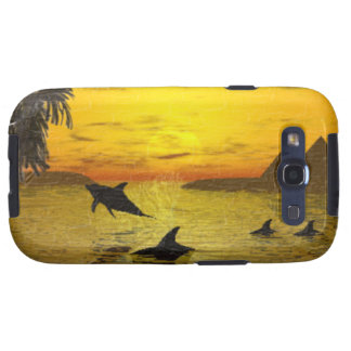 Dolphin Sunset Samsung Galaxy S3 Vibe Case Samsung Galaxy SIII Cases