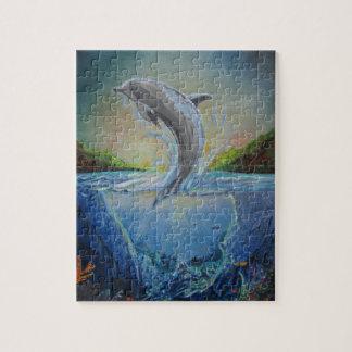 Dolphin Swim Jigsaw Puzzle
