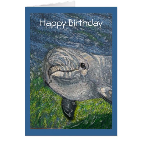 Dolphin Swimming: Cool Dude Birthday Card