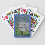 Dolphin Swimming Under Water: Ripples: Art Playing Cards