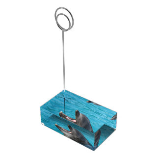 Dolphin Talk Place Card Holder