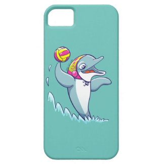 Dolphin throwing the ball while playing water polo iPhone 5 cover