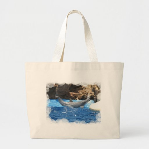 Dolphin Tricks Canvas Bag