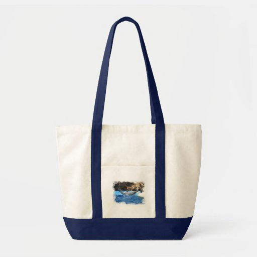 Dolphin Tricks Canvas Tote Bag