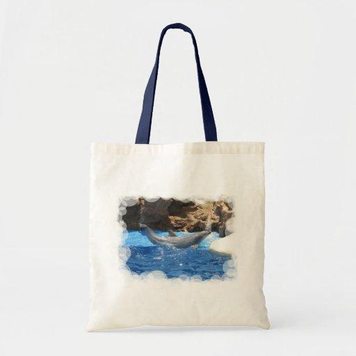 Dolphin Tricks Environmental Tote Canvas Bag
