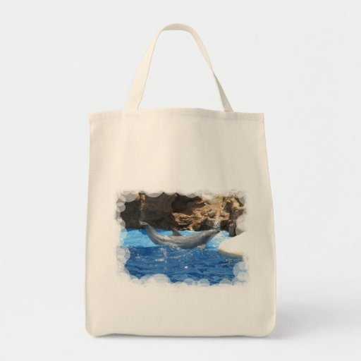 Dolphin Tricks Grocery Tote Bag