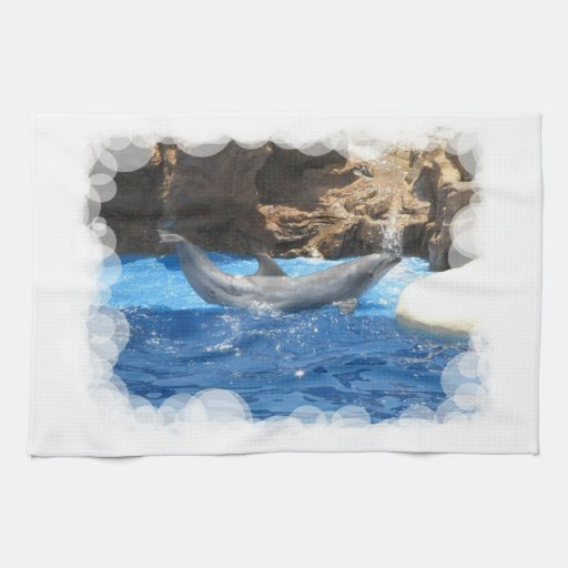 Dolphin Tricks Kitchen Towel