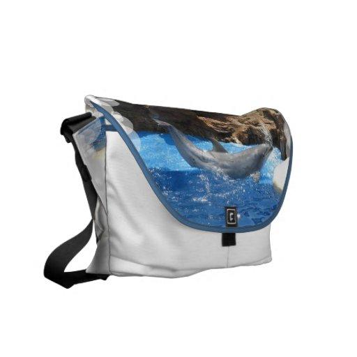 Dolphin Tricks Messenger Bag