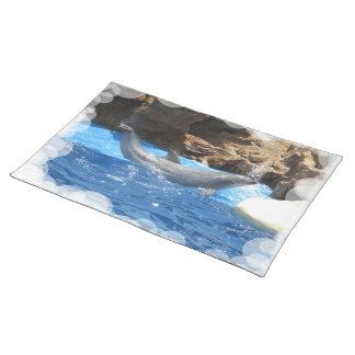 Dolphin Tricks Placemat Cloth Place Mat