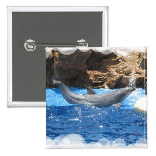 Dolphin Tricks Square Pin
