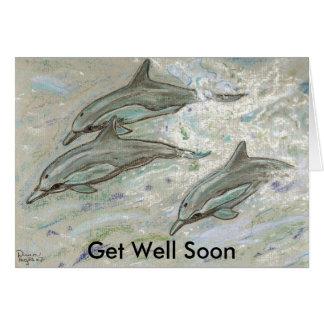 Dolphin Trio -  Get Well Soon Card