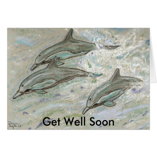 Dolphin Trio -  Get Well Soon Card
