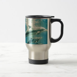 Dolphin Trio Stainless Steel Travel Mug