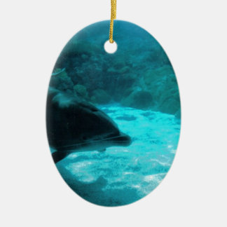 Dolphin Under Water Christmas Ornament