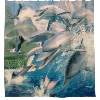 Dolphin Wave Shower Curtain