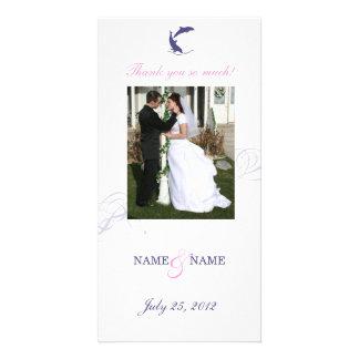 Dolphin Wedding Photo Card