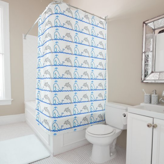 Dolphin & Whale Shower Curtain