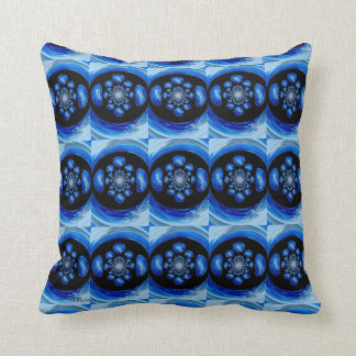Dolphin Whirlpool abstract art Cushion