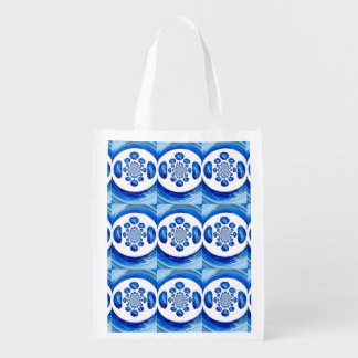 Dolphin Whirlpool swirly abstract art Reusable Grocery Bag