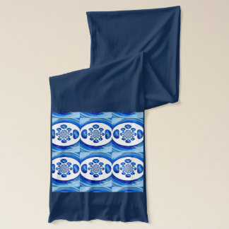 Dolphin Whirlpool swirly abstract art Scarf