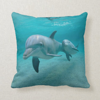 DOLPHIN WITH CALF PILLOW