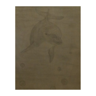Dolphin Wood Wall Decor