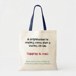 Dolphinariums are Cruel Tote Bag